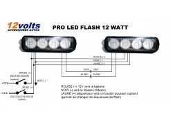 2 PRO LED FLASH 12 WATT 18 FONCTIONS